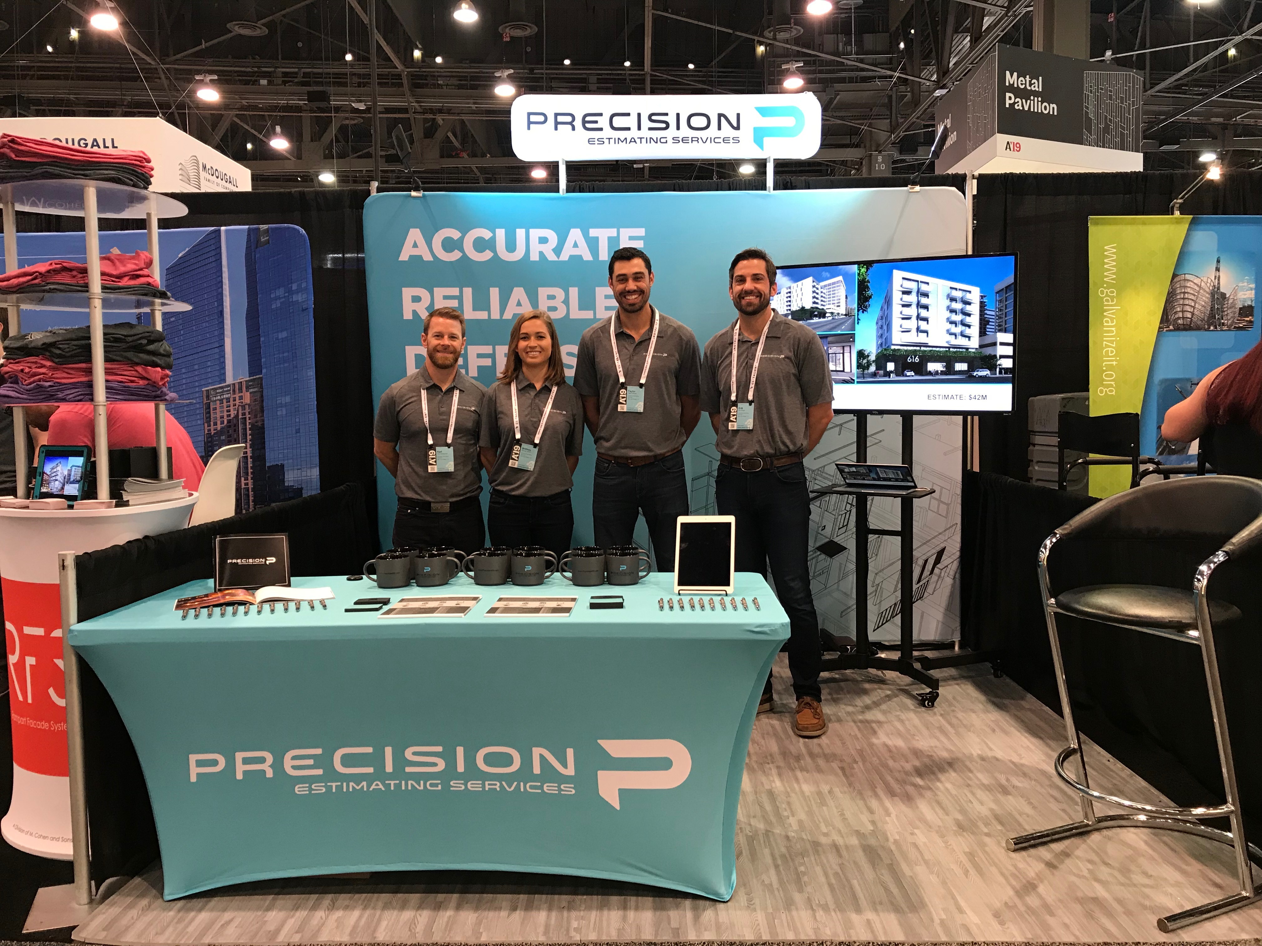 Precision team members at the AIA conference in Las Vegas, Nevada.